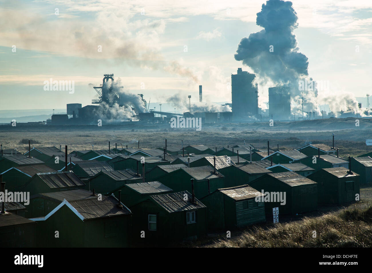 Sahaviriya Steel Industries (United Kingdom) or SSI UK, Redcar Steel Works, Cleveland - Stock Image