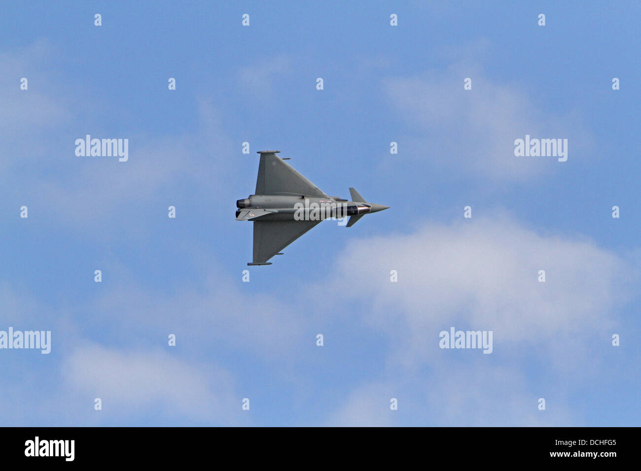 Eastbourne,UK,18th August 2013,The Typhoon flies during Airbourn Credit: Keith Larby/Alamy Live News - Stock Image
