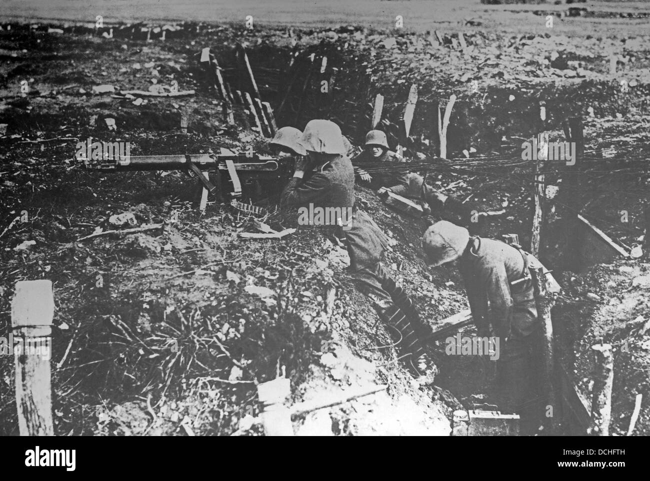 Trench warfare during First World War - Stock Image