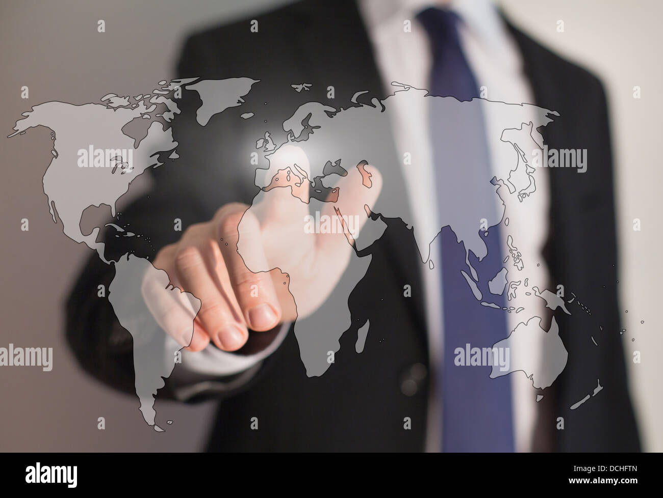 worldwide business and internet technology - Stock Image