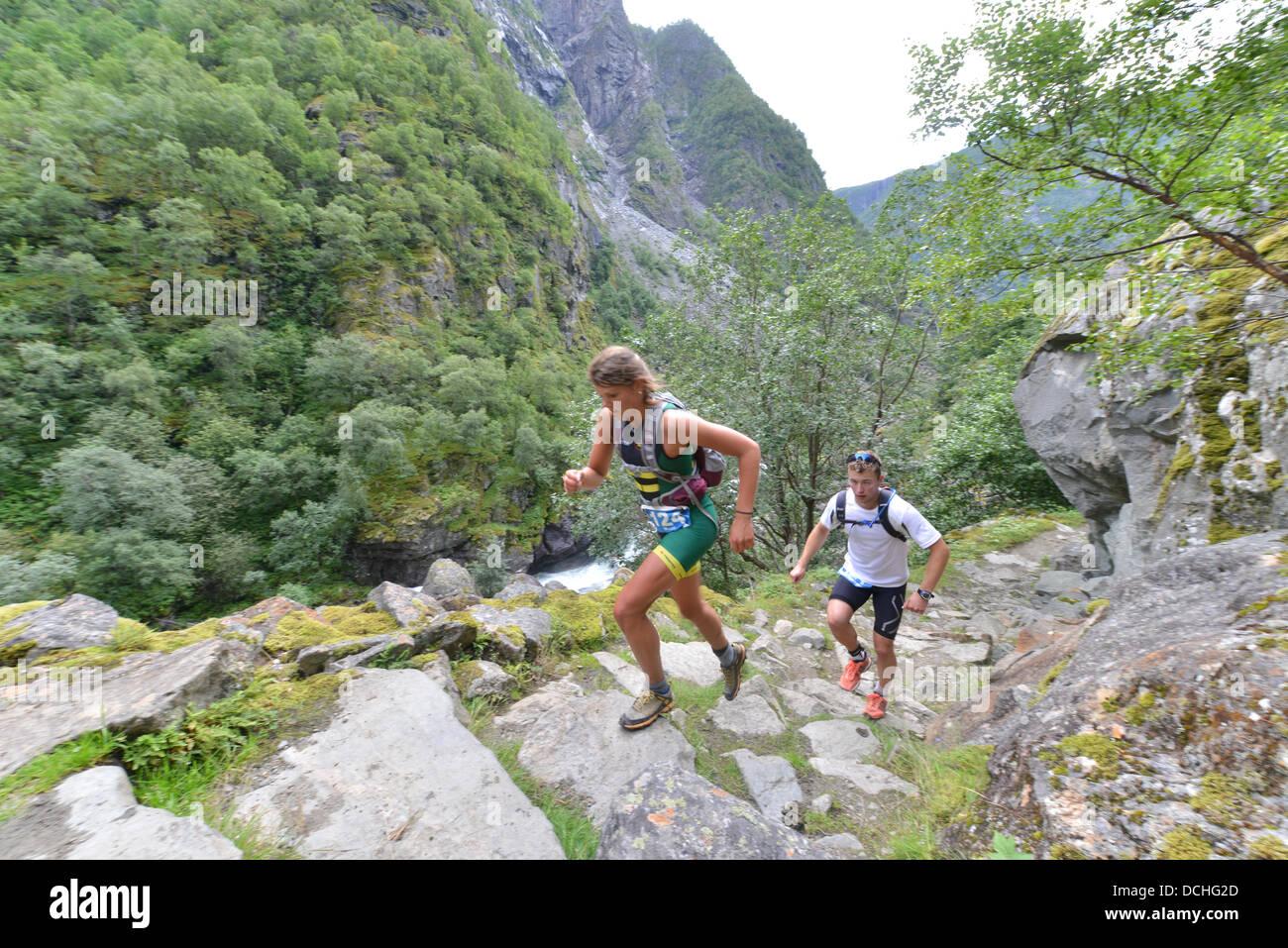 503c9bac1 Aurland, Norway. 17th Aug, 2013. Women's winner of Aurlandsfjellet ...
