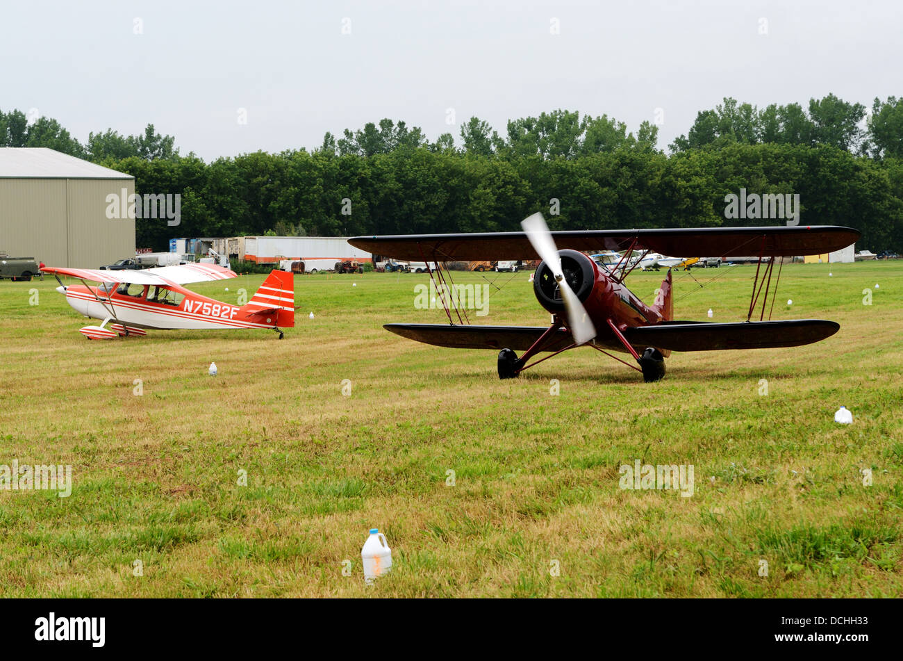 Restored Bi wing aircraft. - Stock Image