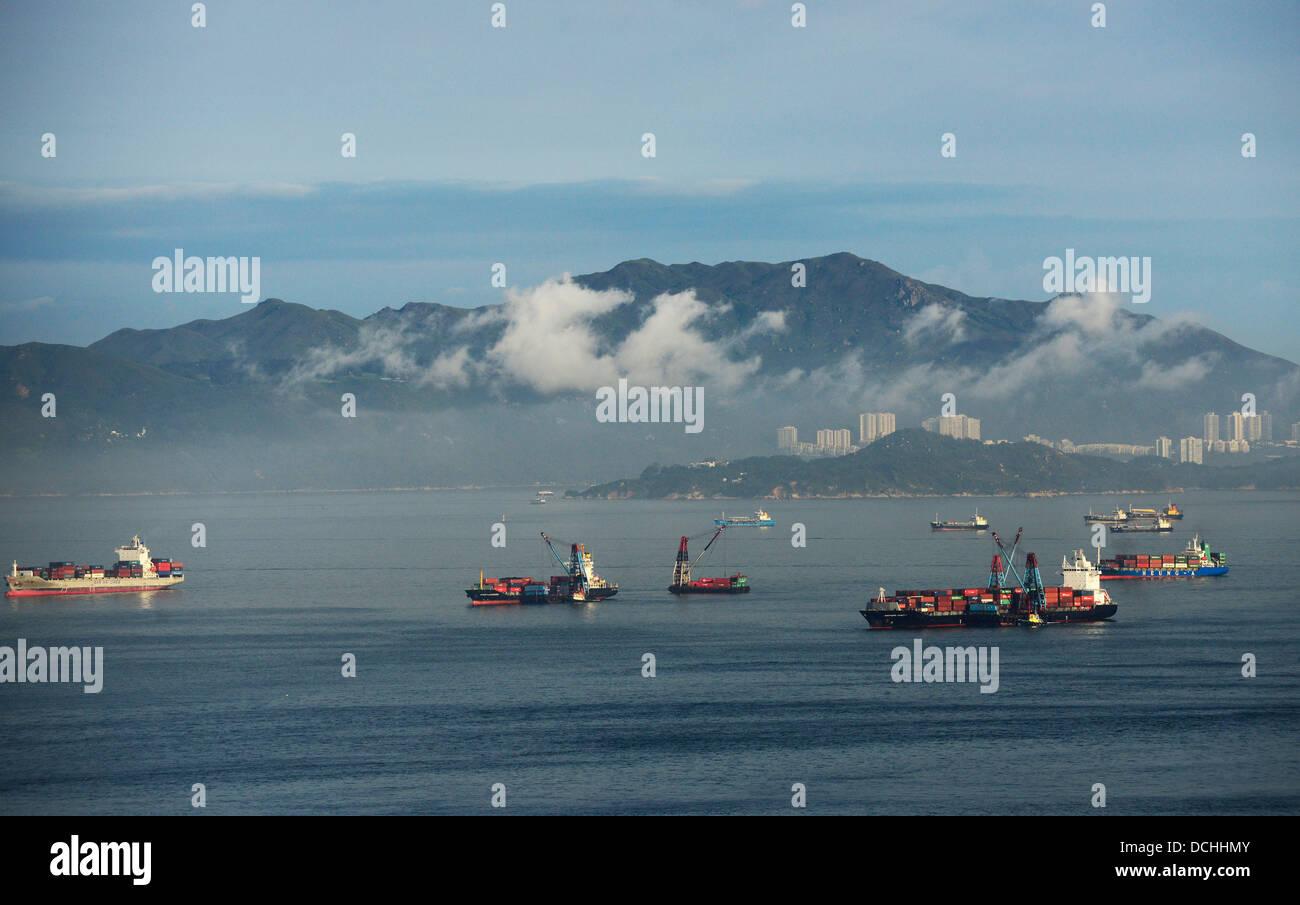 Discovery bay in Lantau island. - Stock Image
