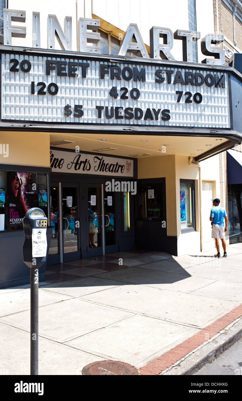 Asheville North Carolina Fine Arts Movie theater - Stock Image