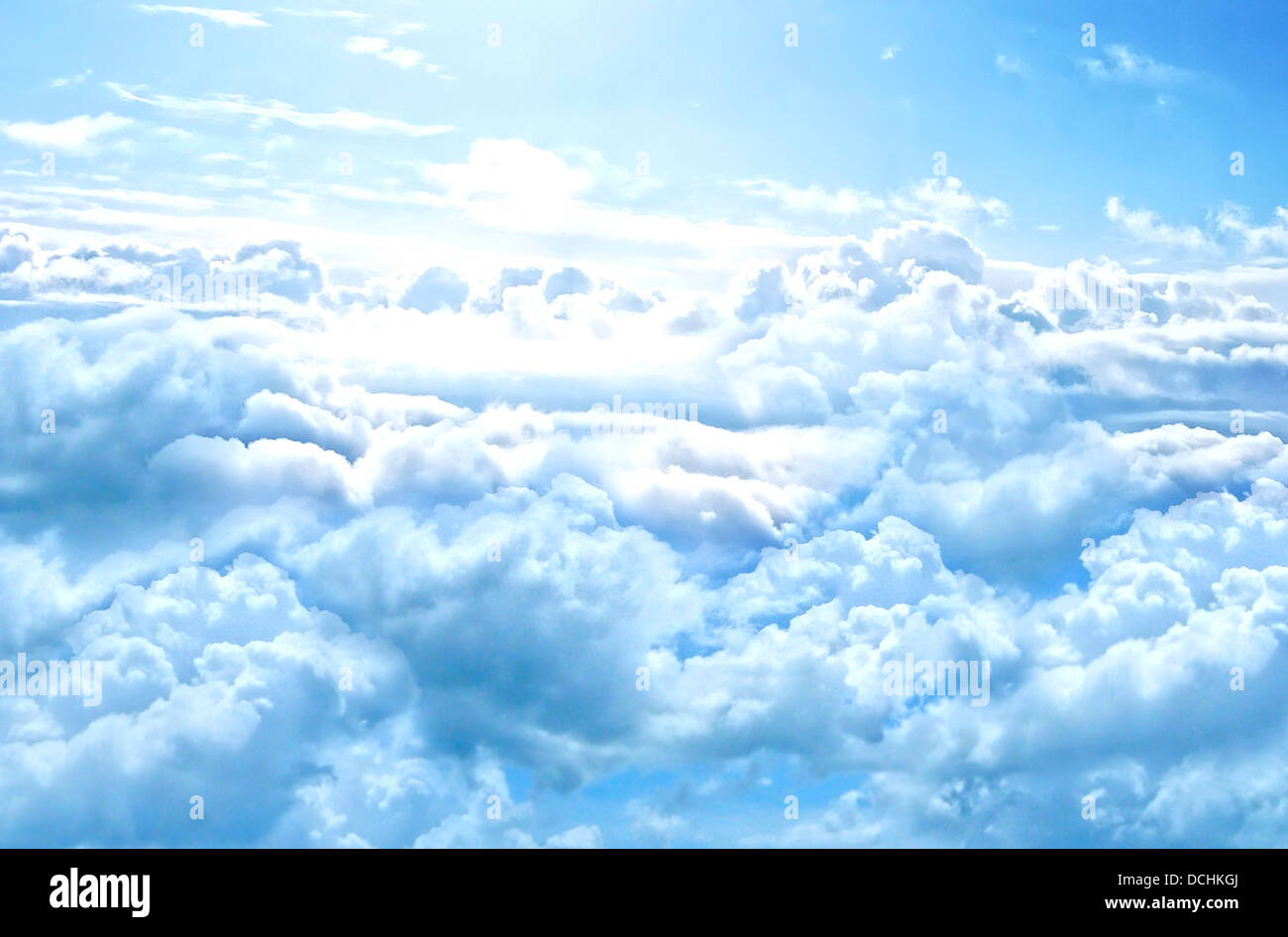 clouds sky cumulus nature skyscape 'sea of clouds' - Stock Image