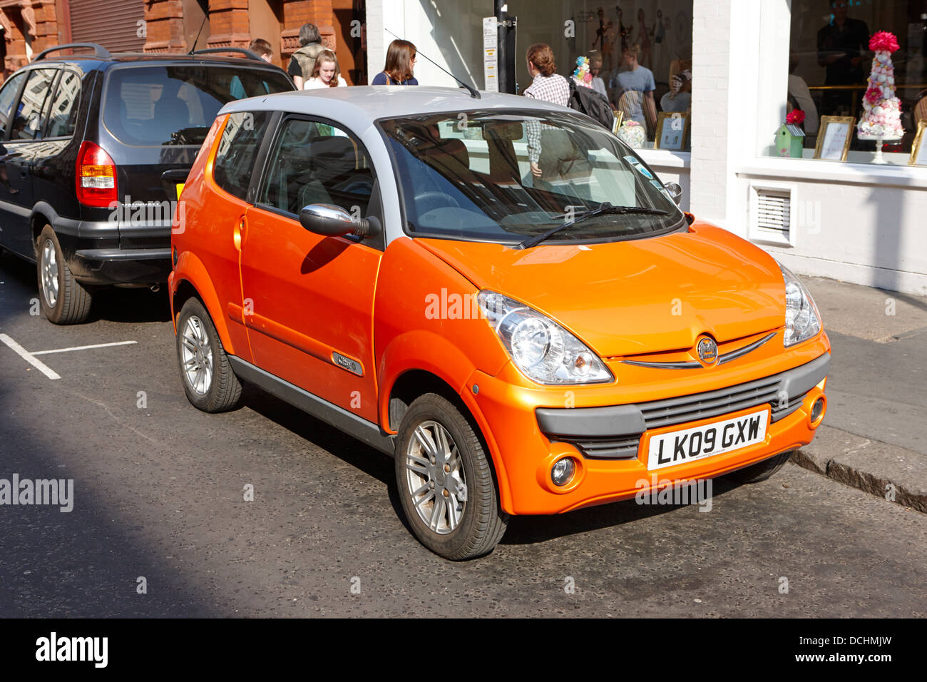 mega city electric car London England UK Stock Photo