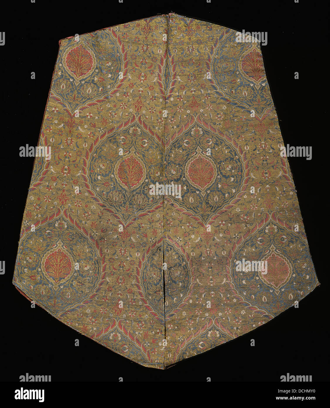 Textile with Design of Staggered Floral Ogives M.39.2.469 - Stock Image
