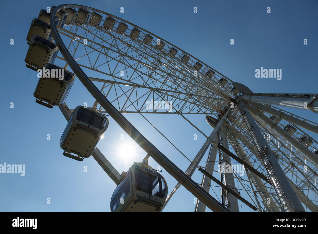 York City observation big wheel view skyline horizon, Yorkshire, England - Stock Image
