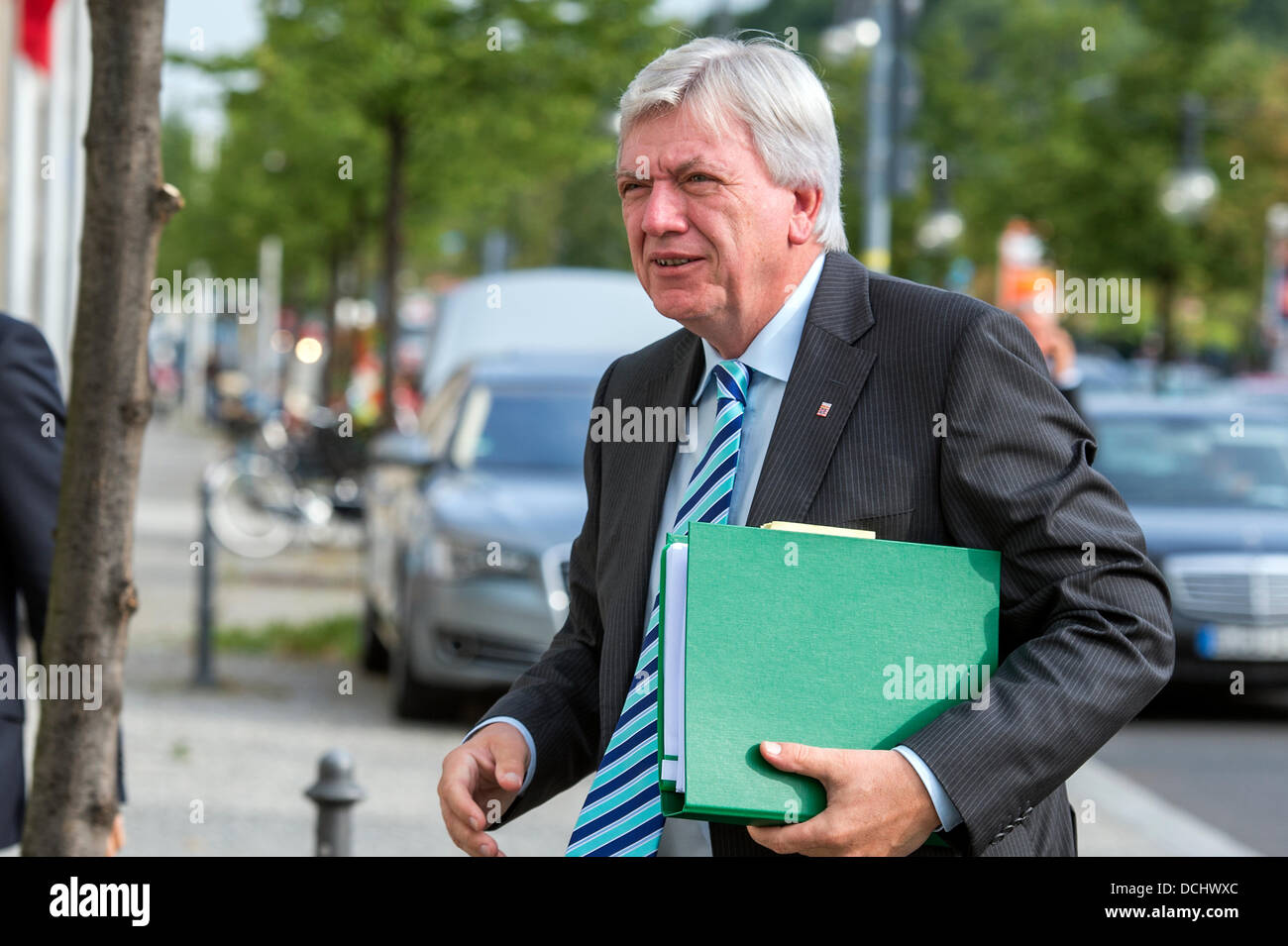 Berlin, Germany. August 19th 2013. The CDU political members arriving to the Bureau meeting before the Federal board - Stock Image