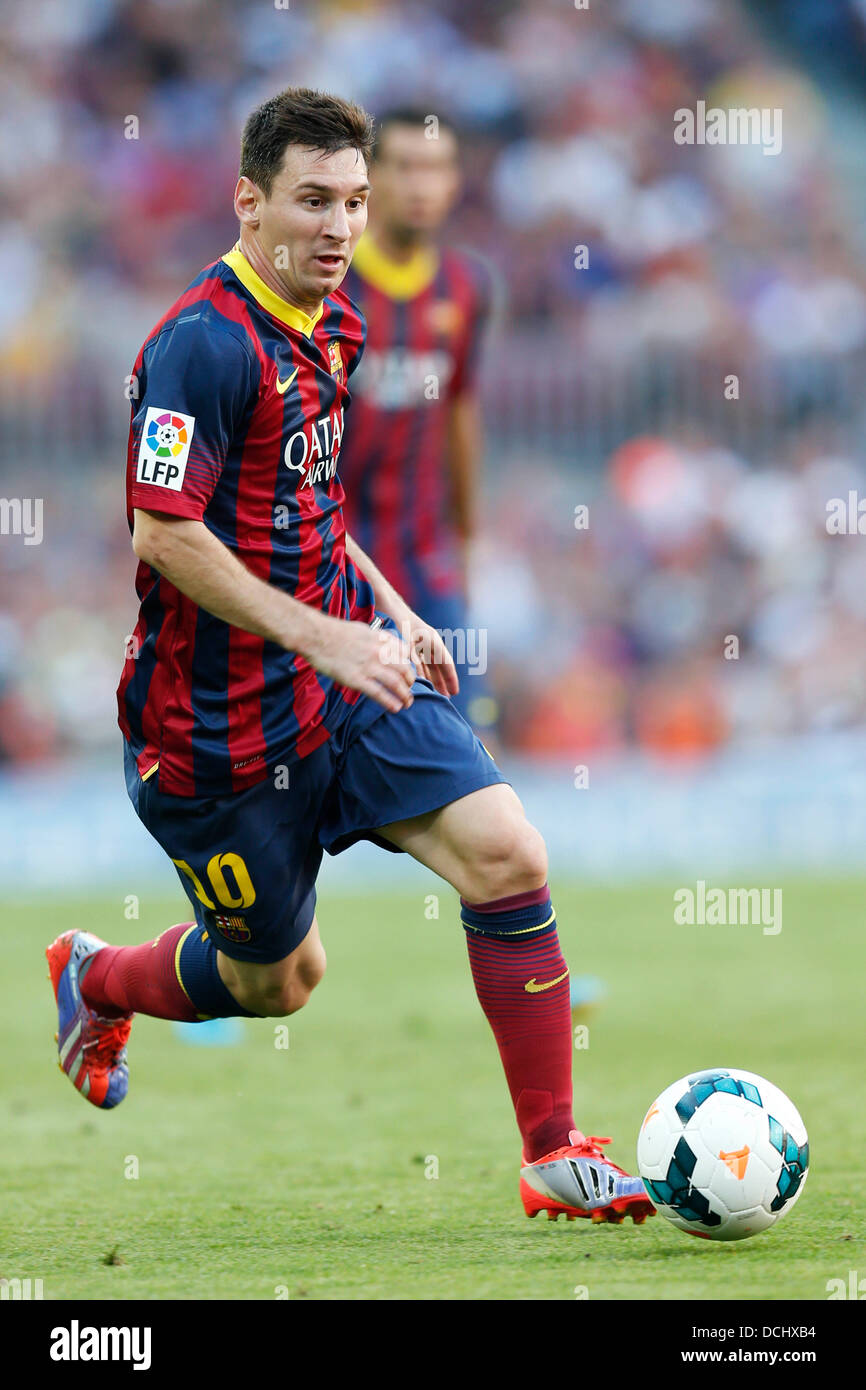 Barcelona Spain 18th Aug 2013 Stock Photos & Barcelona ... Football Player Messi 2013
