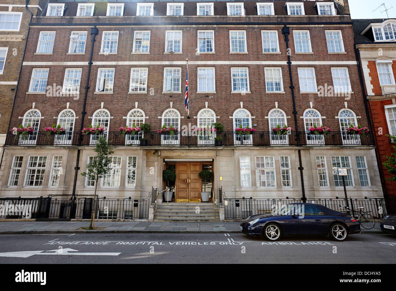 the harley street clinic private hospital London England UK - Stock Image
