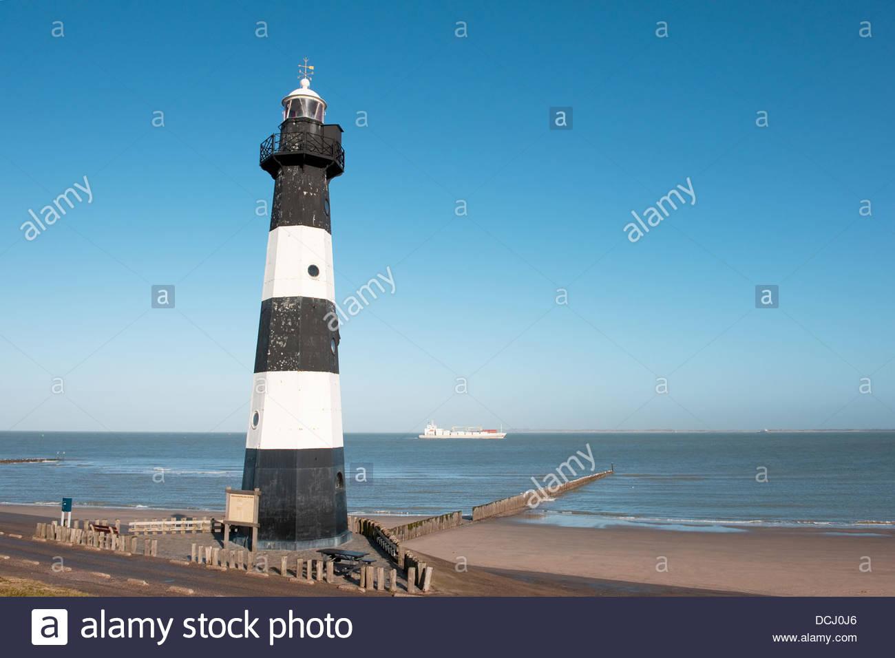 Breskens lighthouse - Stock Image