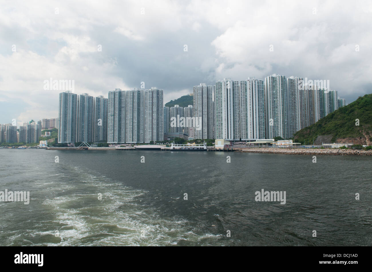 Hong Kong tower blocks, Aberdeen, Hong Kong. - Stock Image