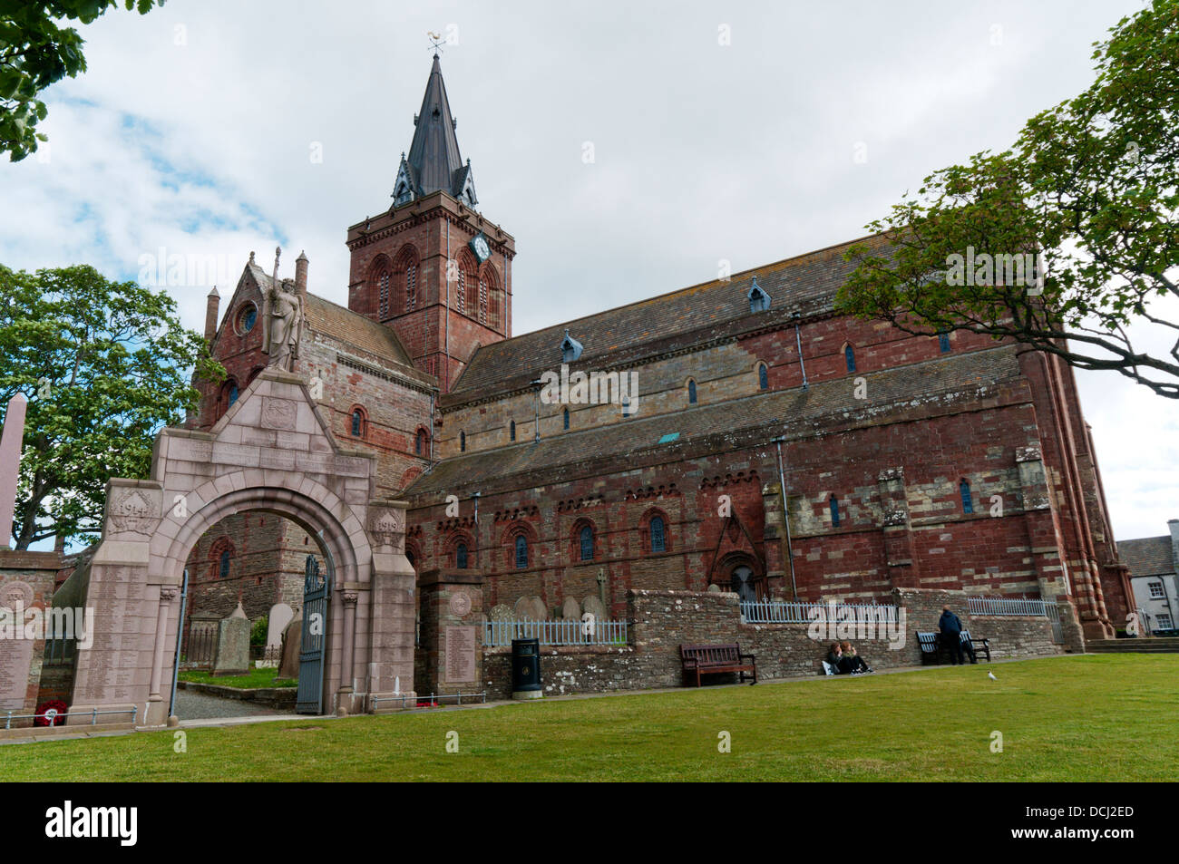 St Magnus Cathedral, Kirkwall, Orkney - Stock Image