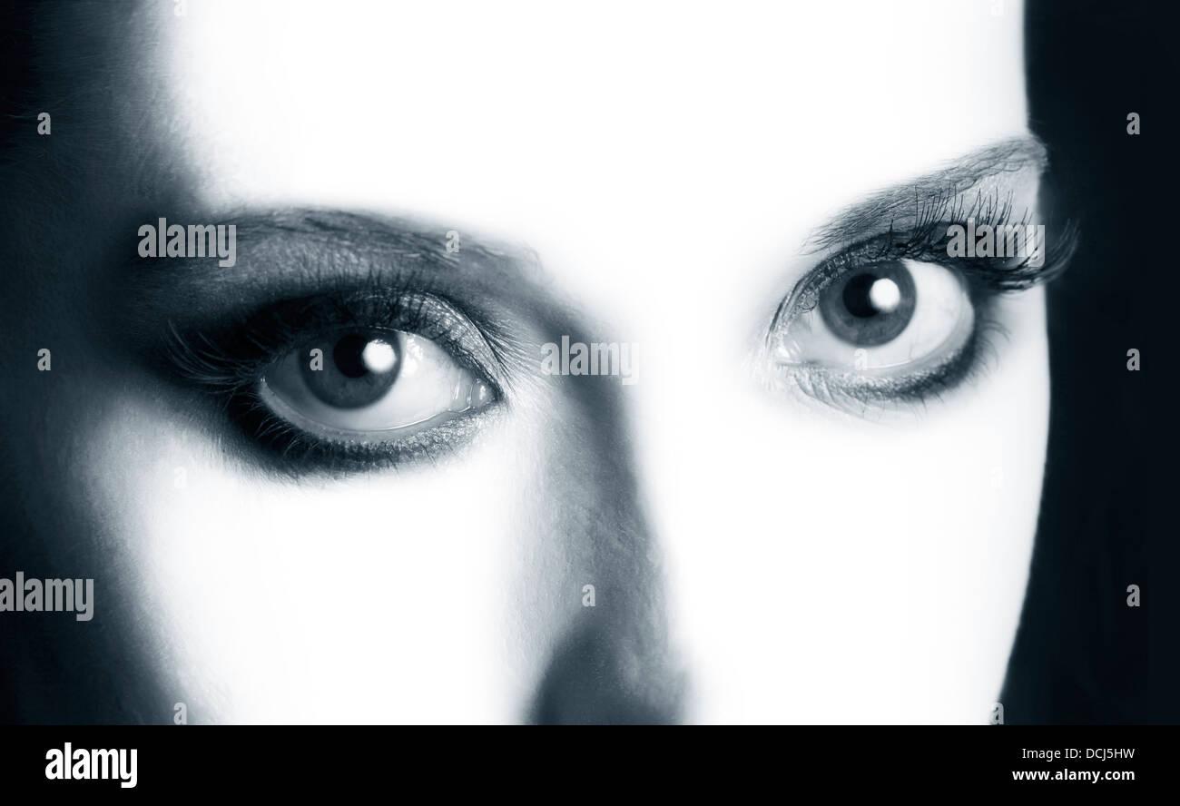 Open eyes closeup - Stock Image