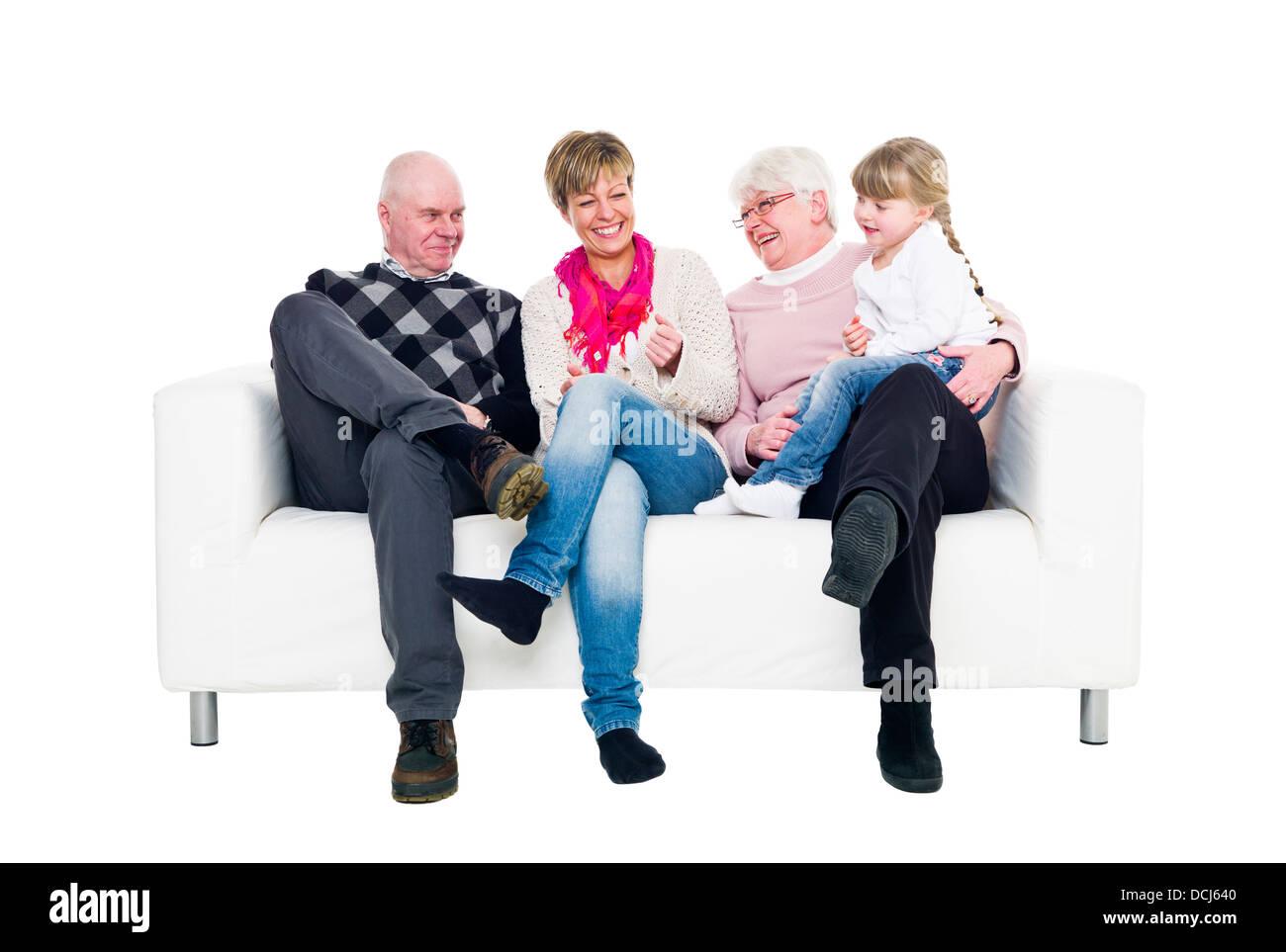Three generation family - Stock Image
