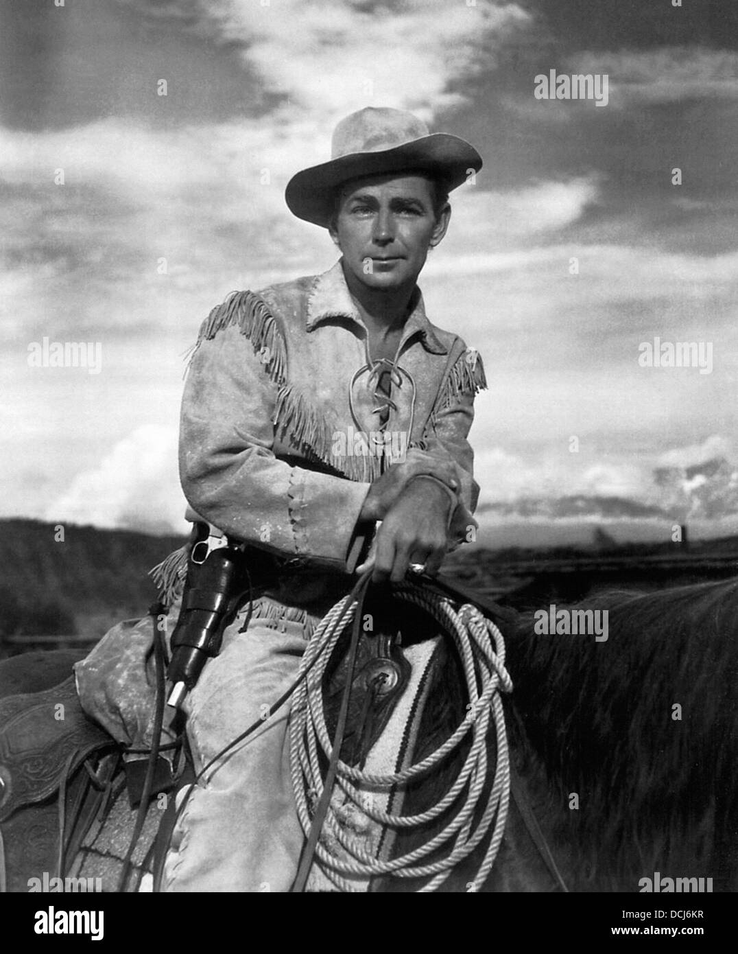 SHANE - Alan Ladd, - Directed by George Stevens - Paramount, 1953. - Stock Image