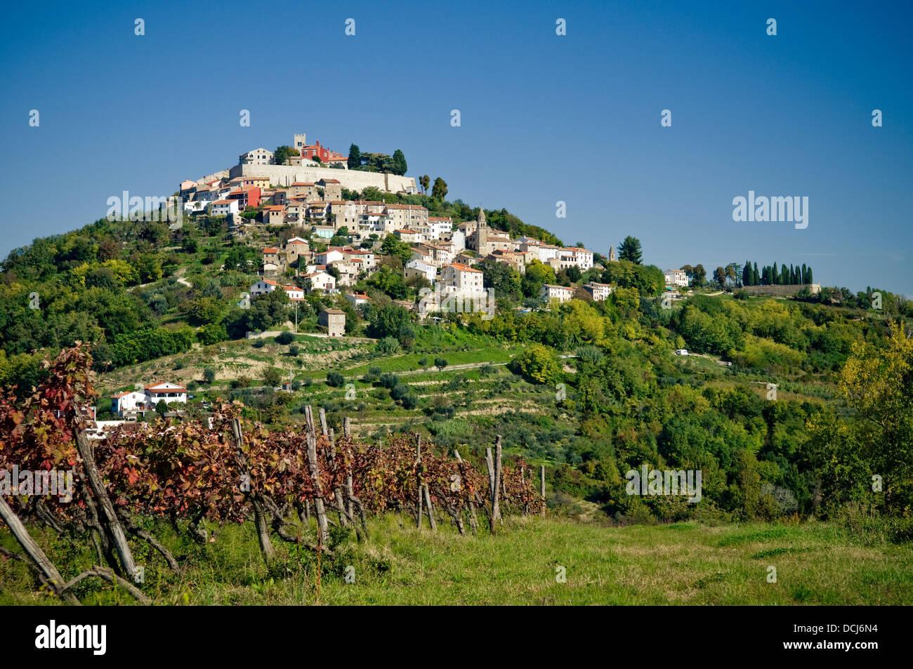 Old medieval town of Motovun. Croatia. Stock Photo