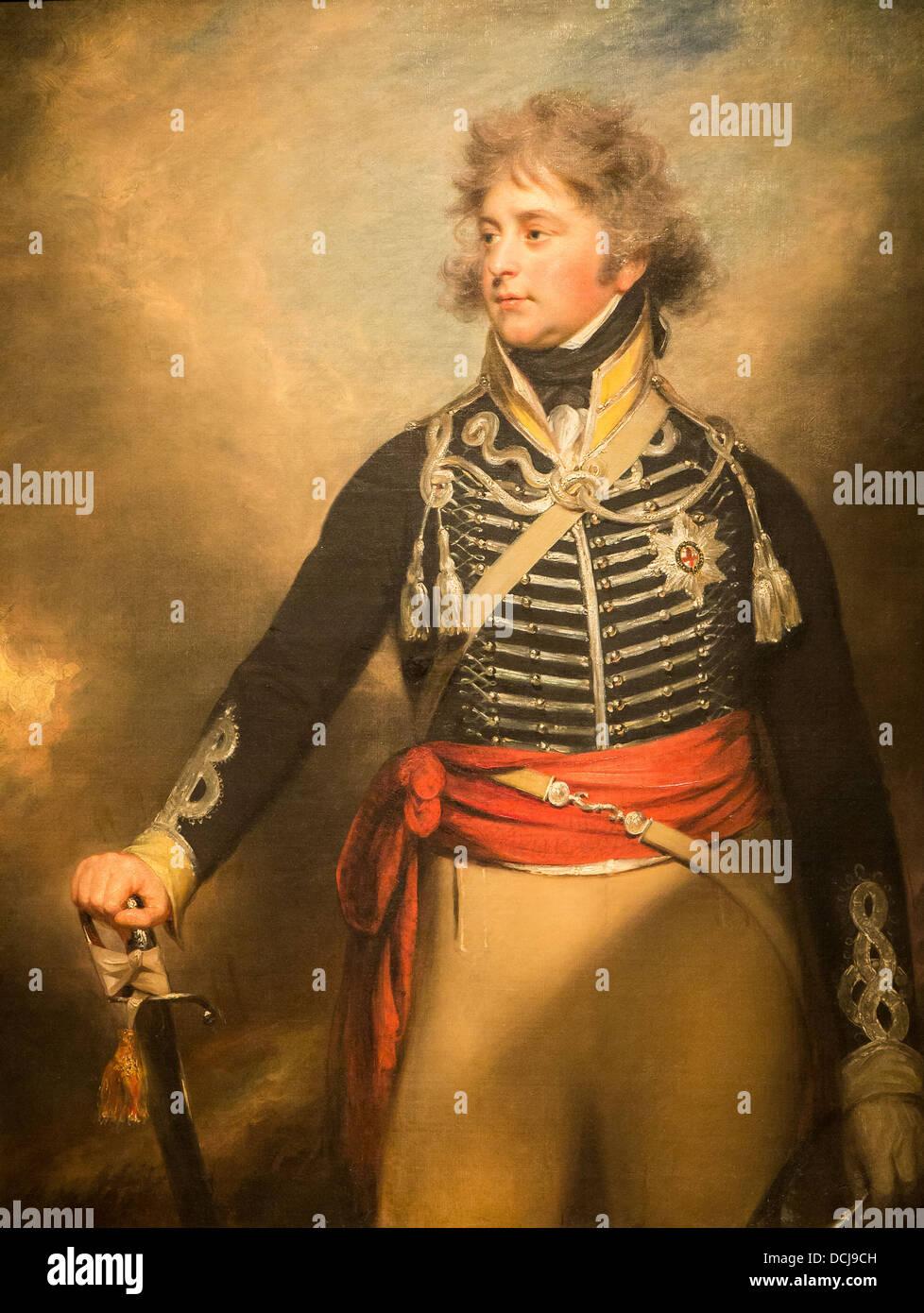 George IV (1762–1830), When Prince of Wales - Sir William Beechey (1798) - Metropolitan Museum of Art - New York - Stock Image