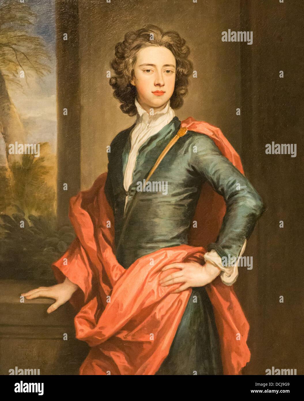17th century  -  Charles Beauclerk, Duke of St. Albans - Sir Godfrey Kneller (1690) - Oil on canvas - Stock Image