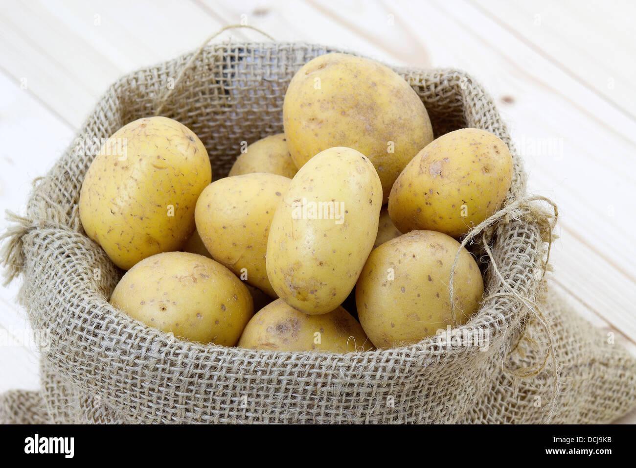 raw potatoes - Stock Image