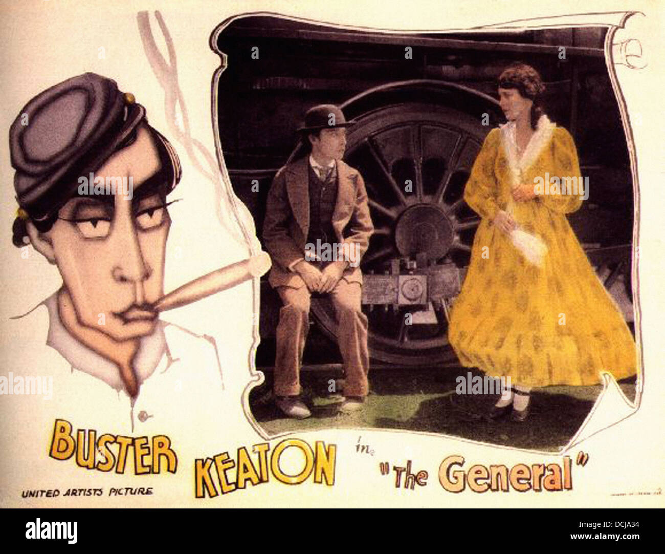 THE GENERAL - Buster Keaton Productions 1927 - Movie Poster - Stock Image