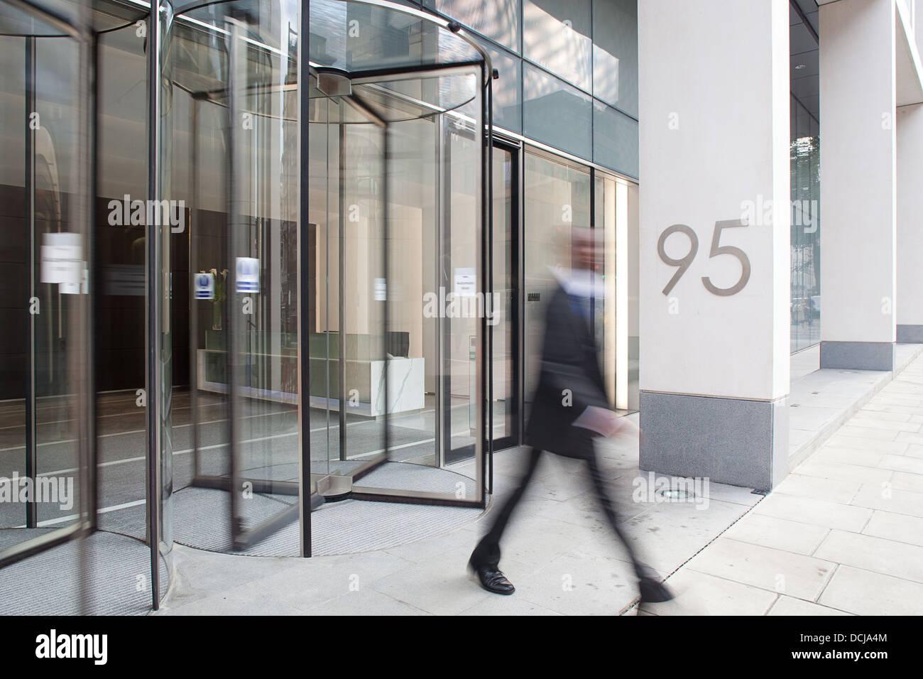 Office rotating doorway - Stock Image
