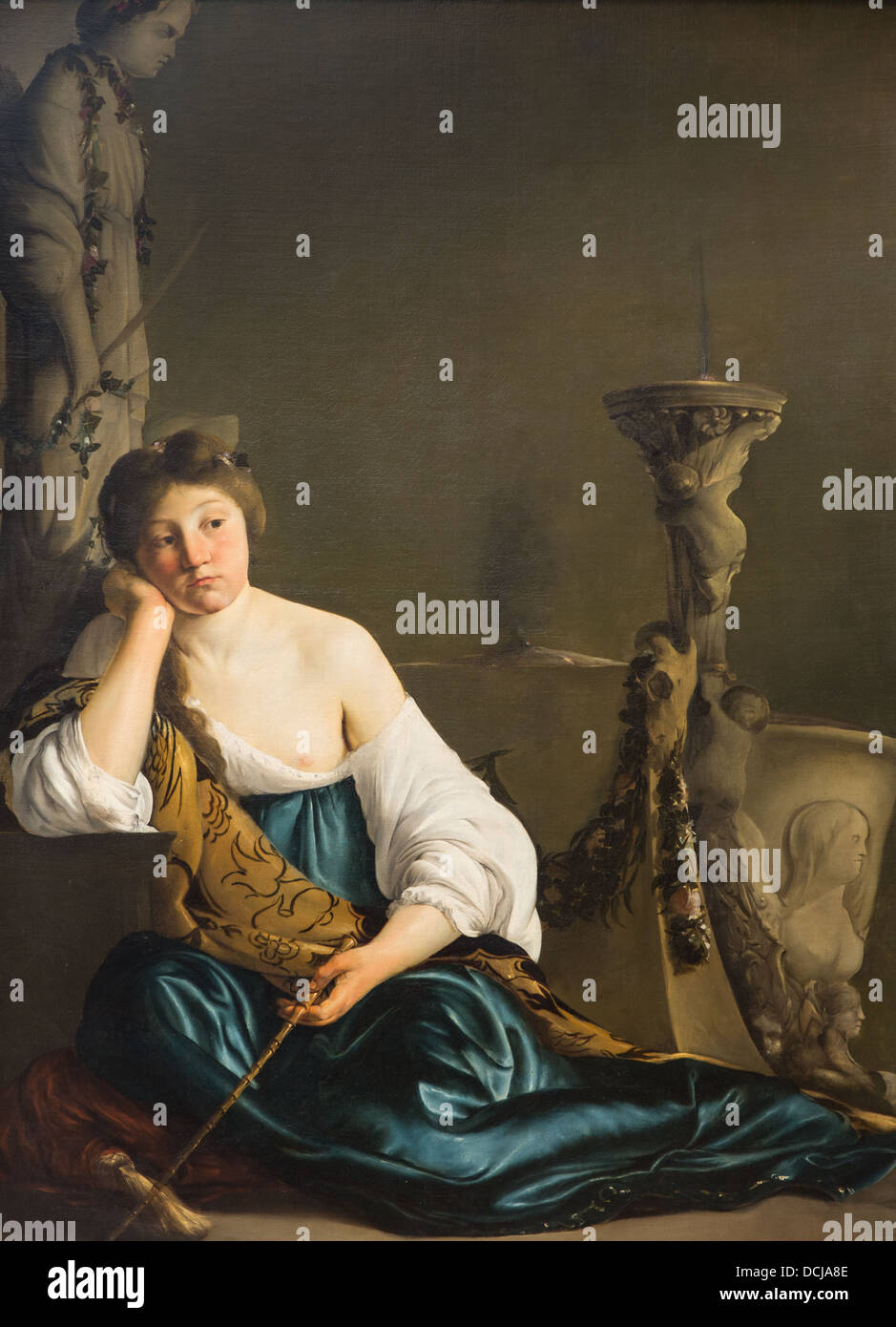 17th century  -  The Disillusioned Medea ('The Enchantress') - Paulus Bor (1640) Oil on canvas - Stock Image