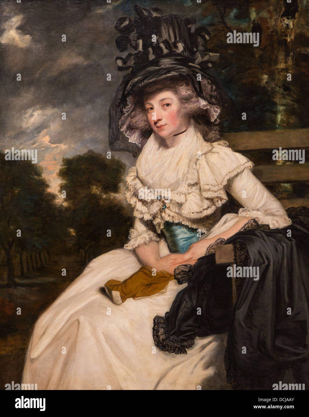 18th century  -  Mlle Lewis Thomas Watson (Mary Elisabeth Milles) - Sir Joshua Reynolds (1789) Oil on canvas - Stock Image