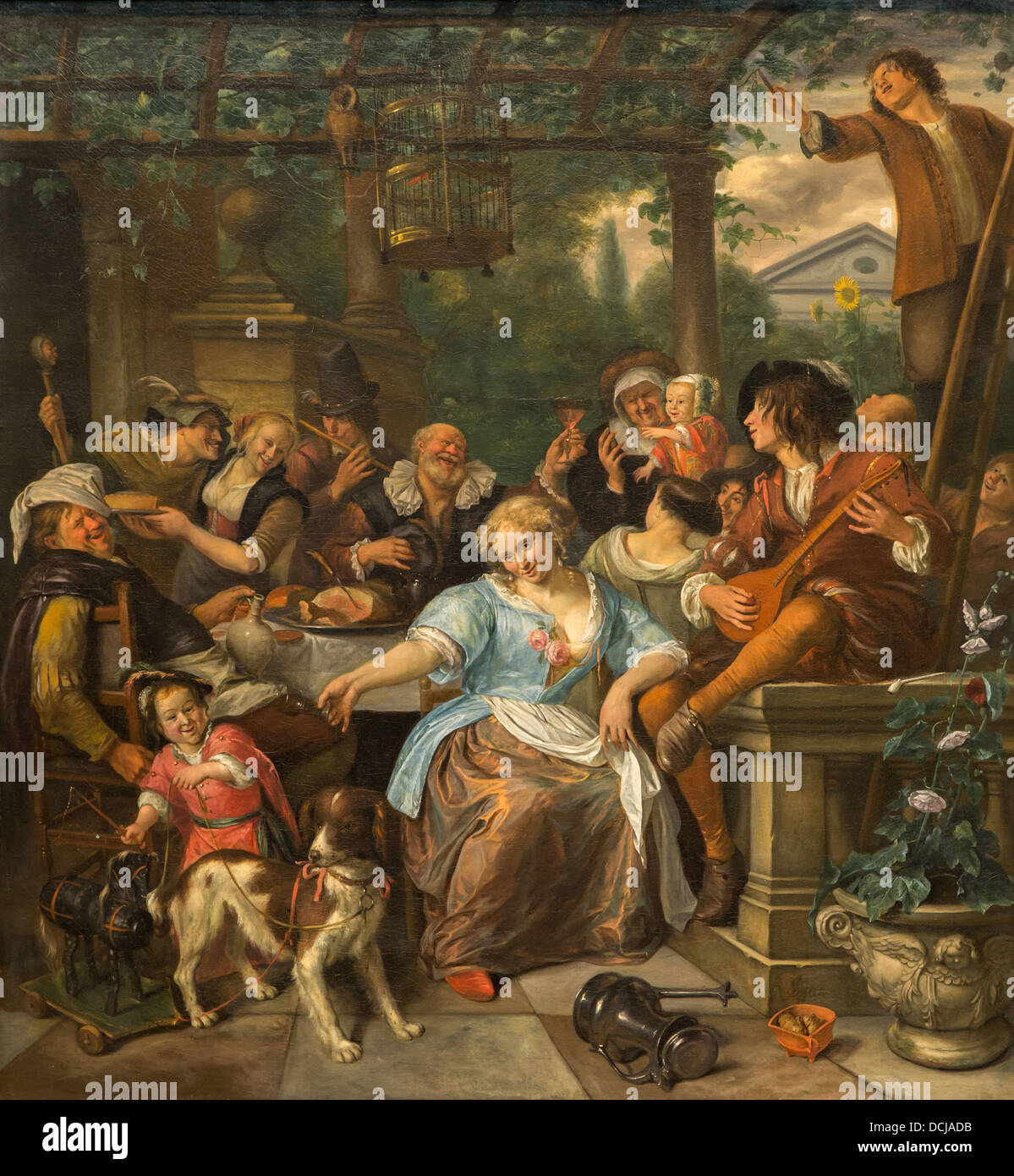17th century - Merry Company on a Terrace - Jan Steen (1670) - Metropolitan  Museum of Art - New York Oil on canvas