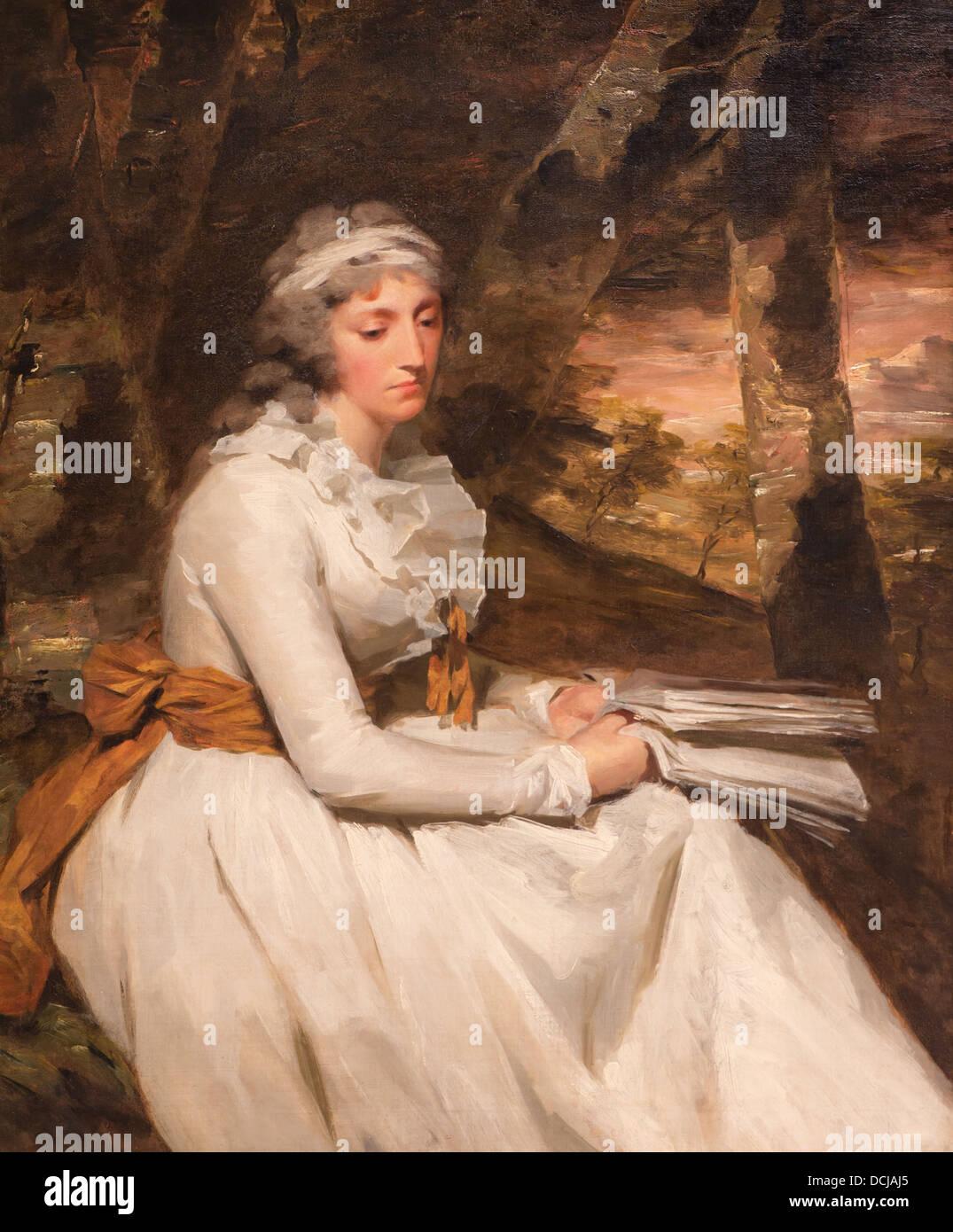 18th century  -  Mlle Richard Alexander Oswald (Louisa Johnston) - Sir Henry Raeburn (1794) Oil on canvas - Stock Image