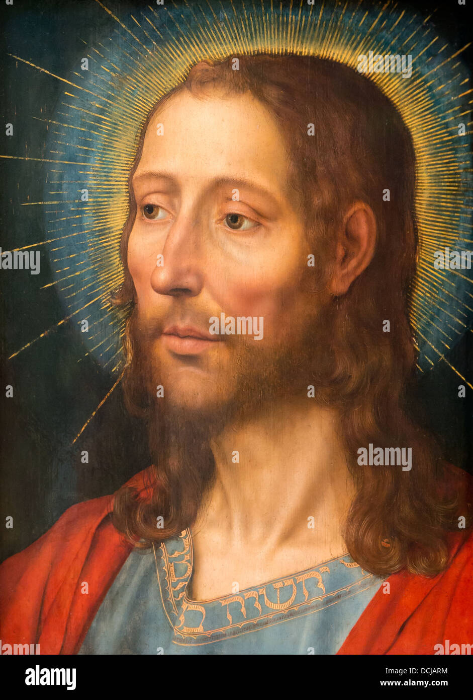 16th century  -  Christ - Quentin Metsys (1529) - Metropolitan Museum of Art - New York Oil on wood - Stock Image