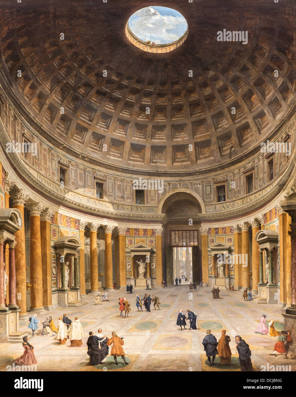 18th century  -  View of the Pantheon's Inside, 1734 - Giovanni Paolo Panini Philippe Sauvan-Magnet / Active - Stock Image