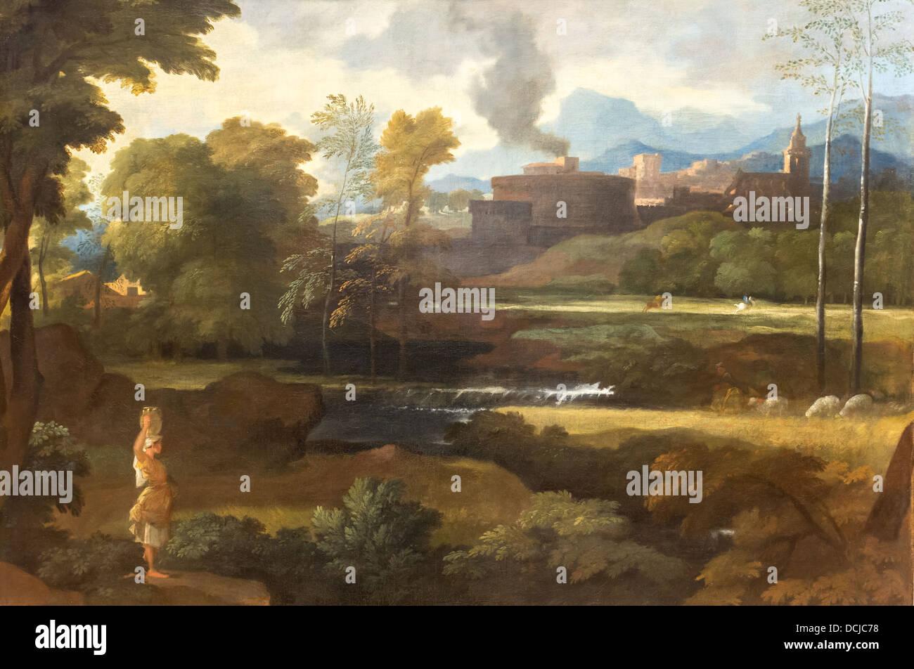 17th century  -  Classical Landscape, 1660 - Sébastien Bourdon  Philippe Sauvan-Magnet / Active Museum - Stock Image