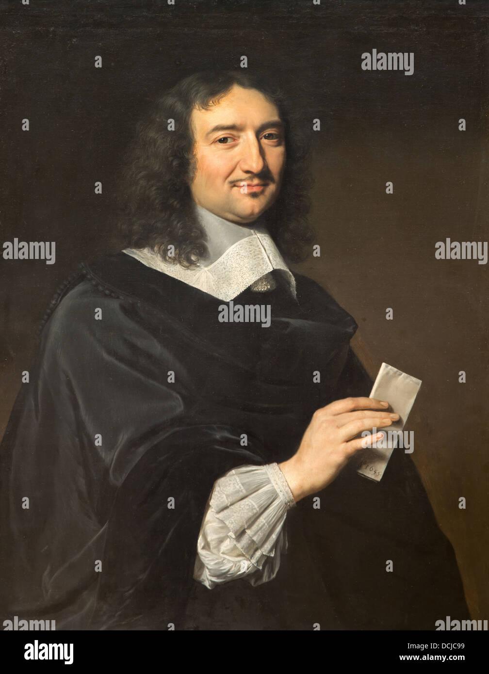 17th century  -  Jean Baptiste Colbert, 1655 - Philippe de Champaigne Philippe Sauvan-Magnet / Active Museum - Stock Image