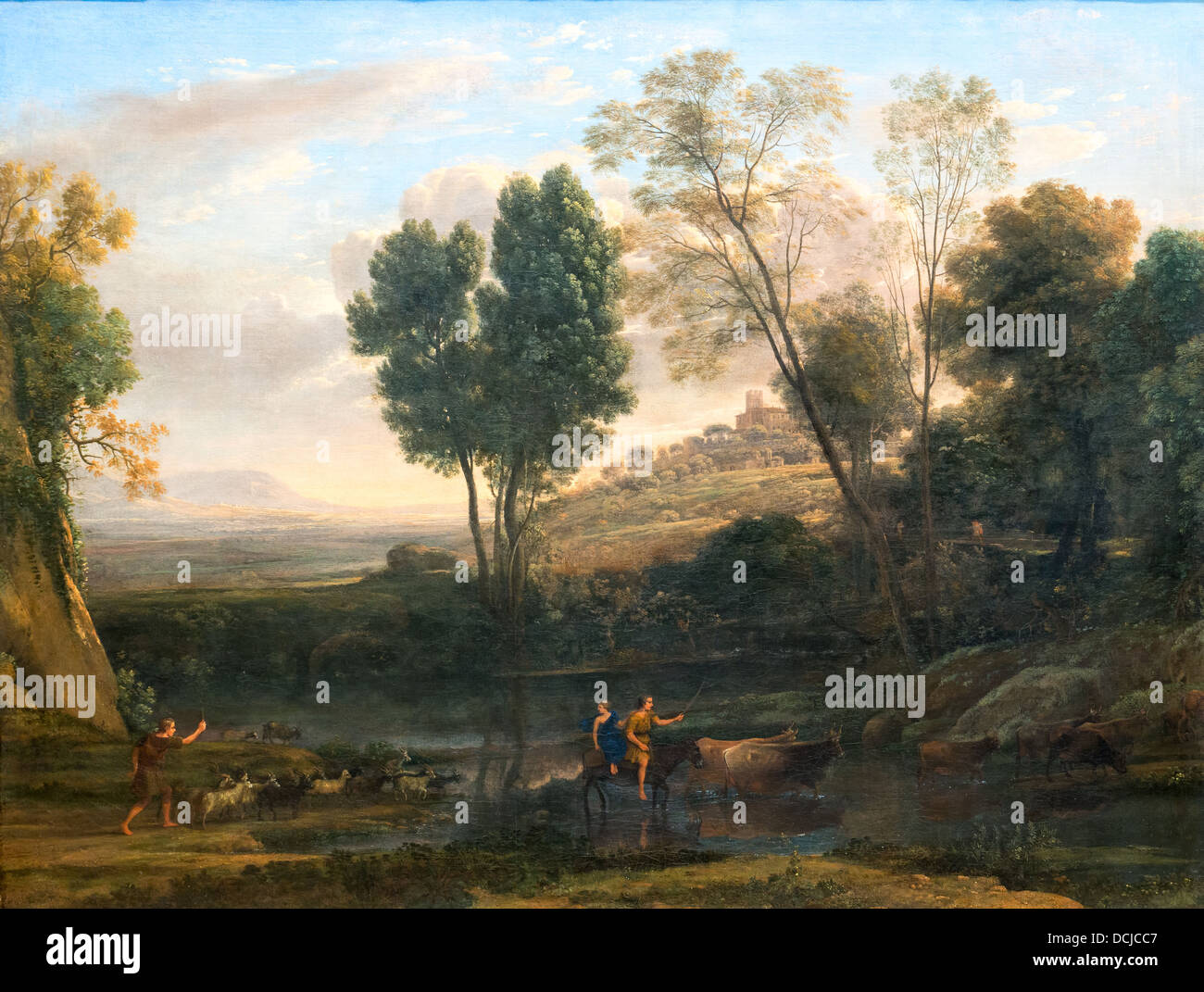 17th century  -  Sunrise, 1646 - Claude Lorrain Philippe Sauvan-Magnet / Active Museum - Stock Image