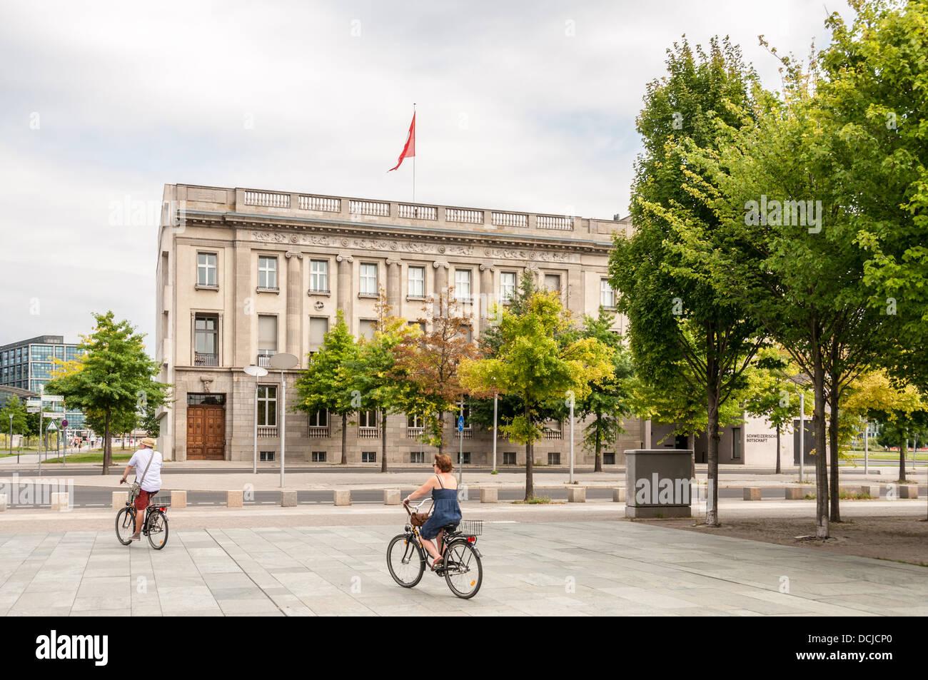 Swiss Embassy - Scweizerische Botschaft - Berlin Germany Stock Photo