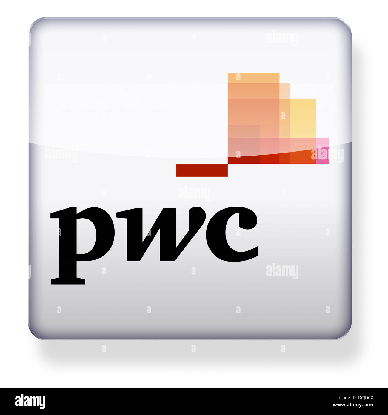 PricewaterhouseCoopers pwc logo as an app icon. Clipping path included. - Stock Image