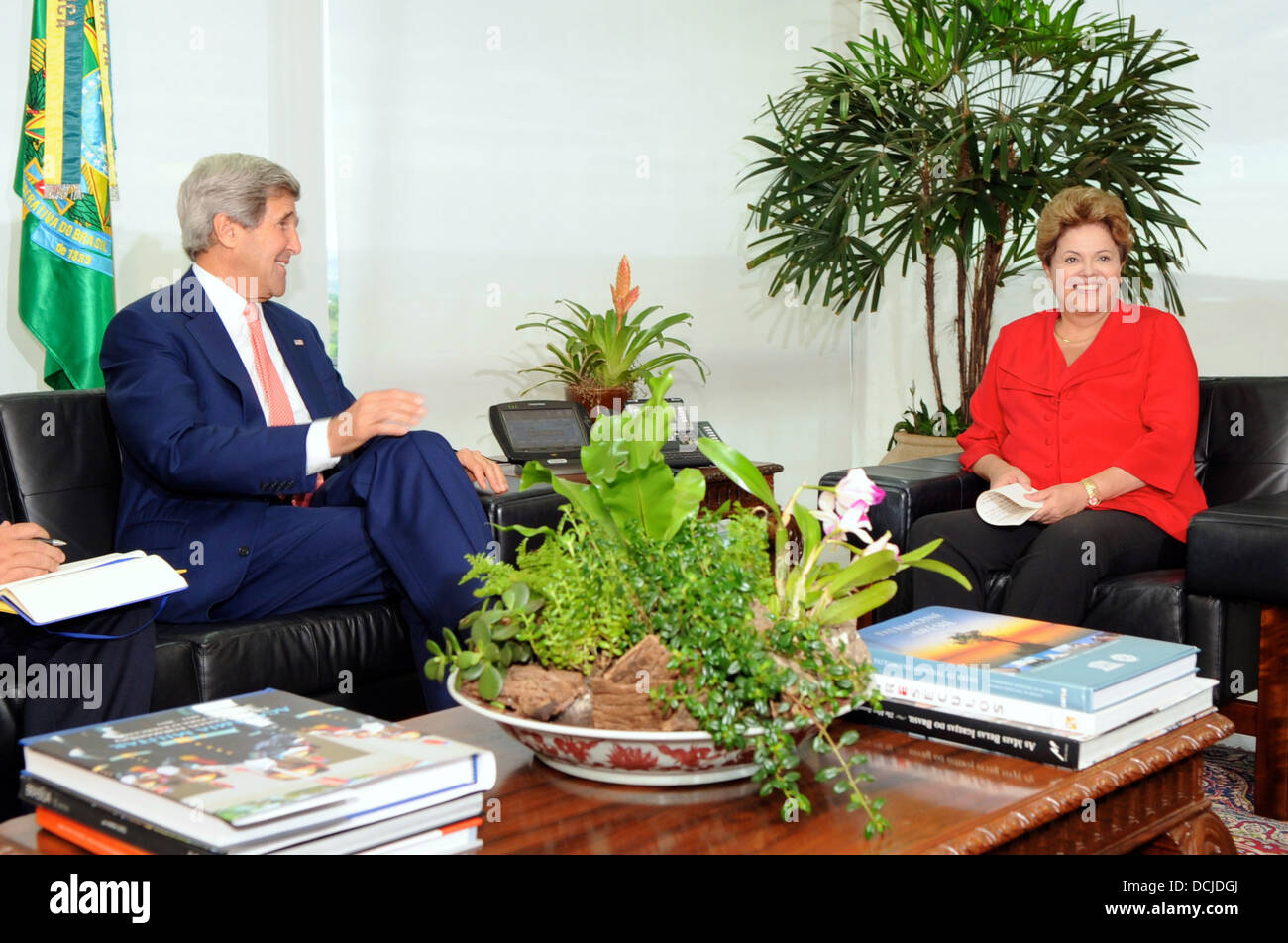 Secretary Kerry Meets With Brazilian President Rousseff - Stock Image