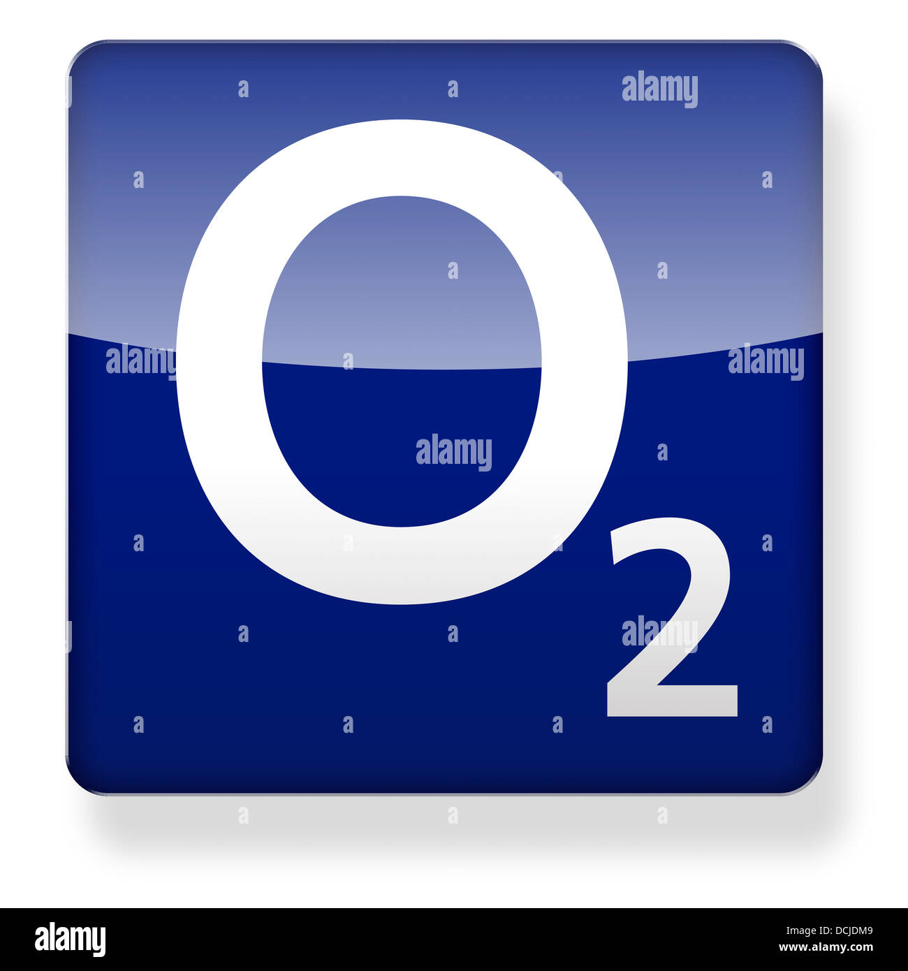 O2 as an app icon. Clipping path included. - Stock Image