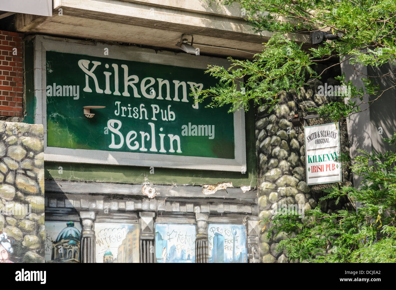 Kilkenny Irish Pub Berlin - Smith & Scanlons - Hackescher Markt, Hacke's Market, Berlin Germany - Stock Image