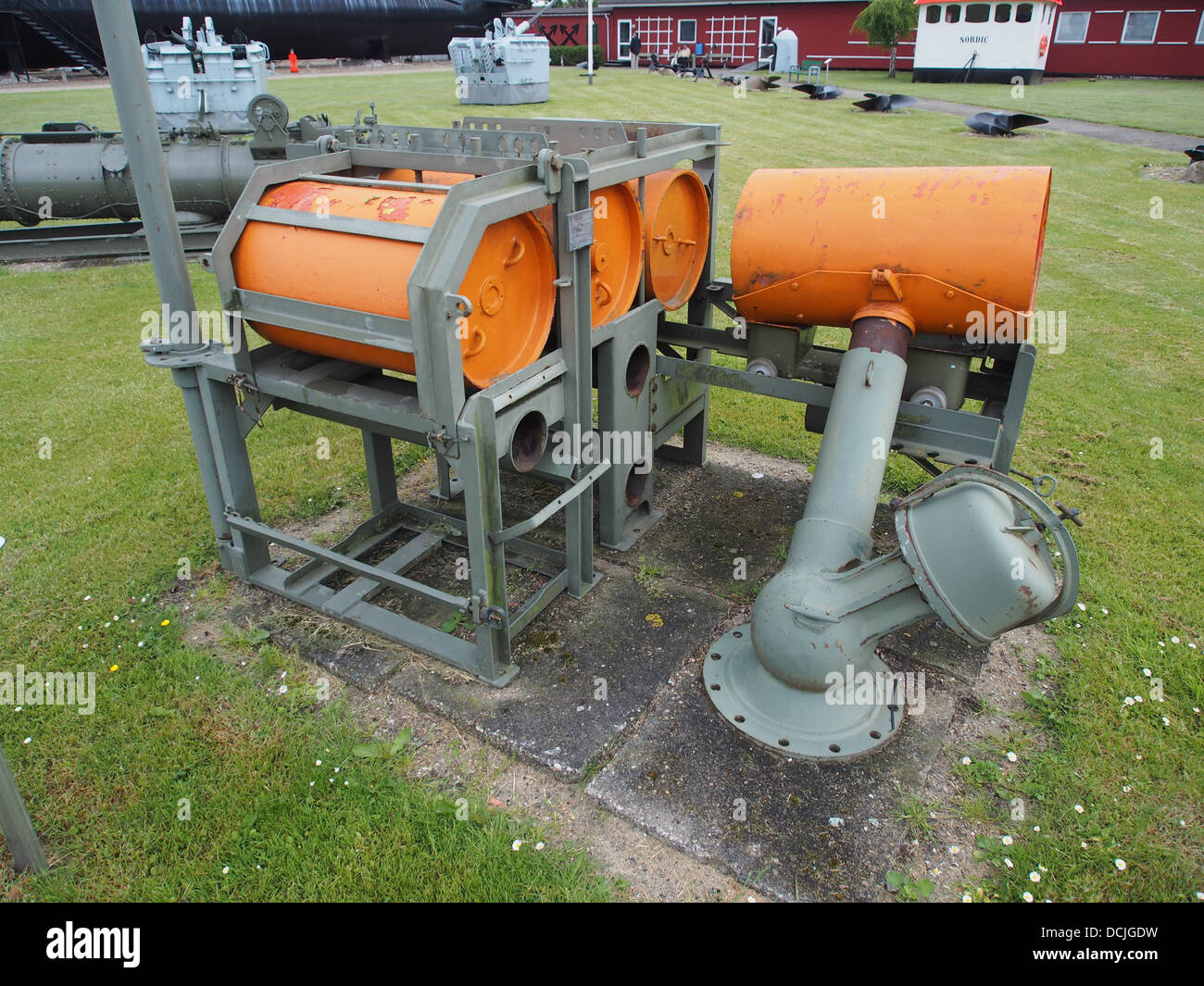 Speed loader for depth charges - Stock Image