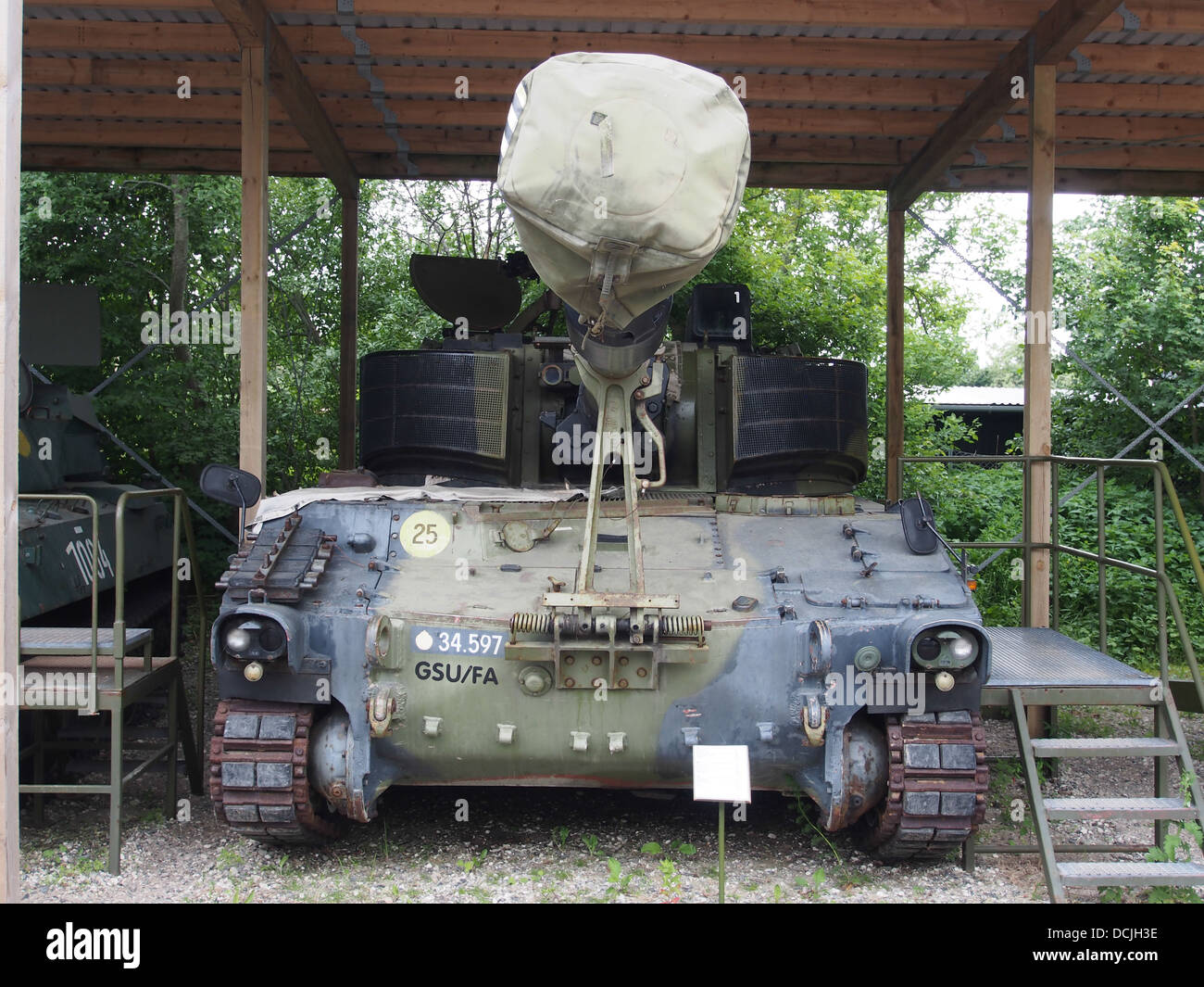 M109 front view, photographed at the Aalborg Forsvars- og Garnisonsmuseum - Stock Image