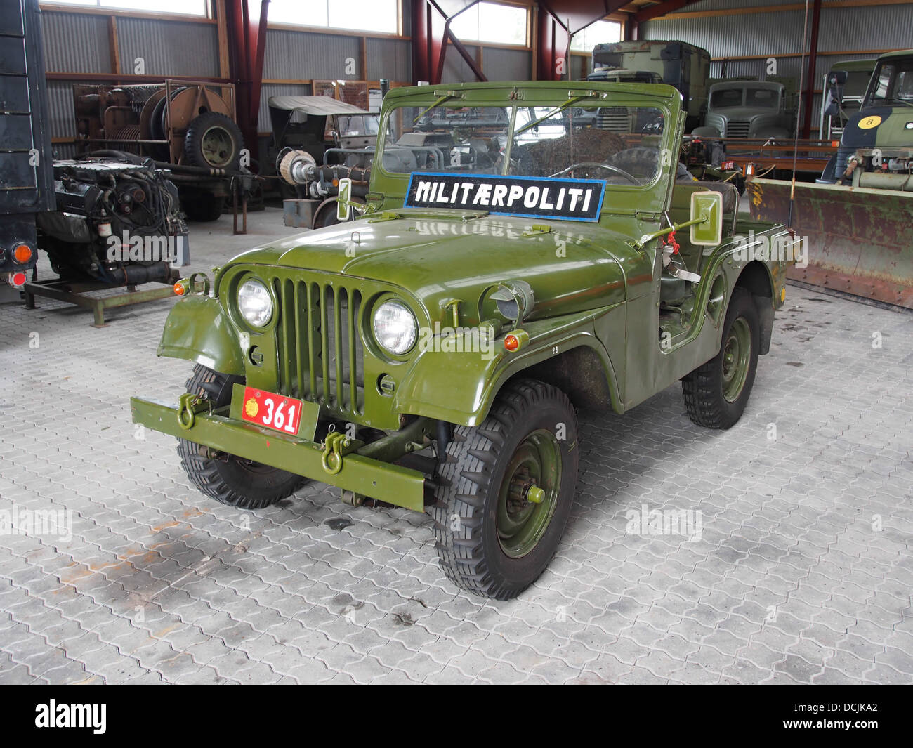 Willy's Militaerpoliti, photographed at the Aalborg Forsvars- og Garnisonsmuseum - Stock Image