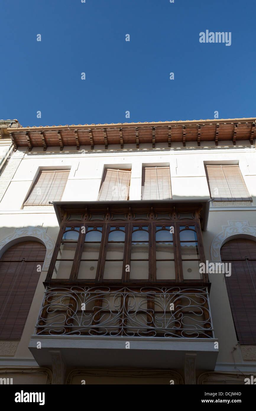 balcony, ubeda, jaen, españa - Stock Image