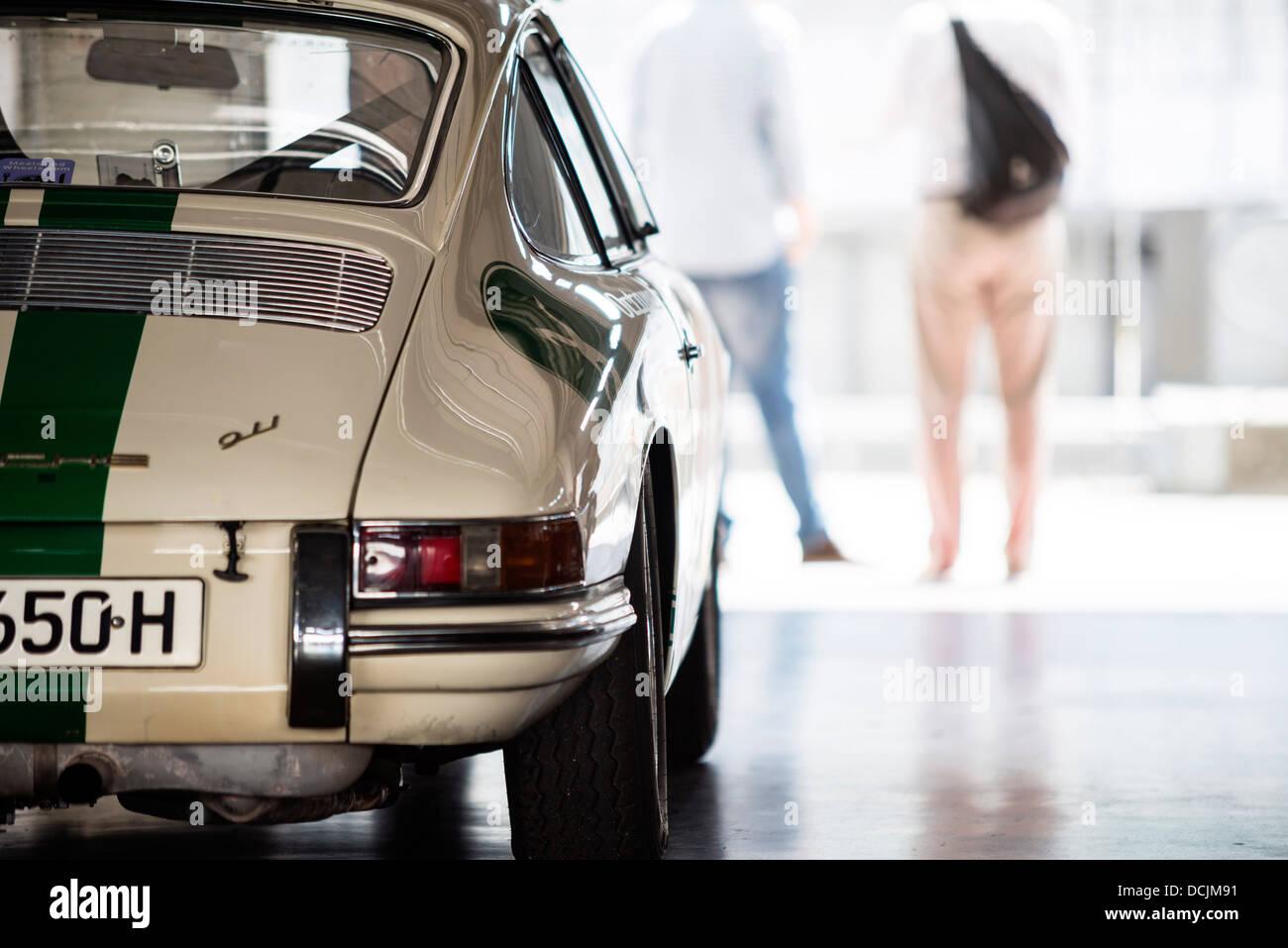 Porsche 911 in Garage - Stock Image