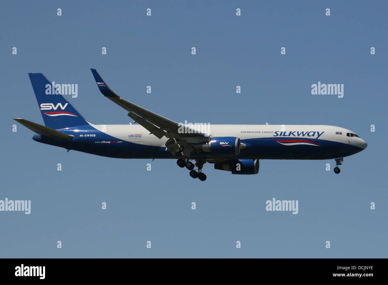 silkway airlines cargo boeing 767 - Stock Image
