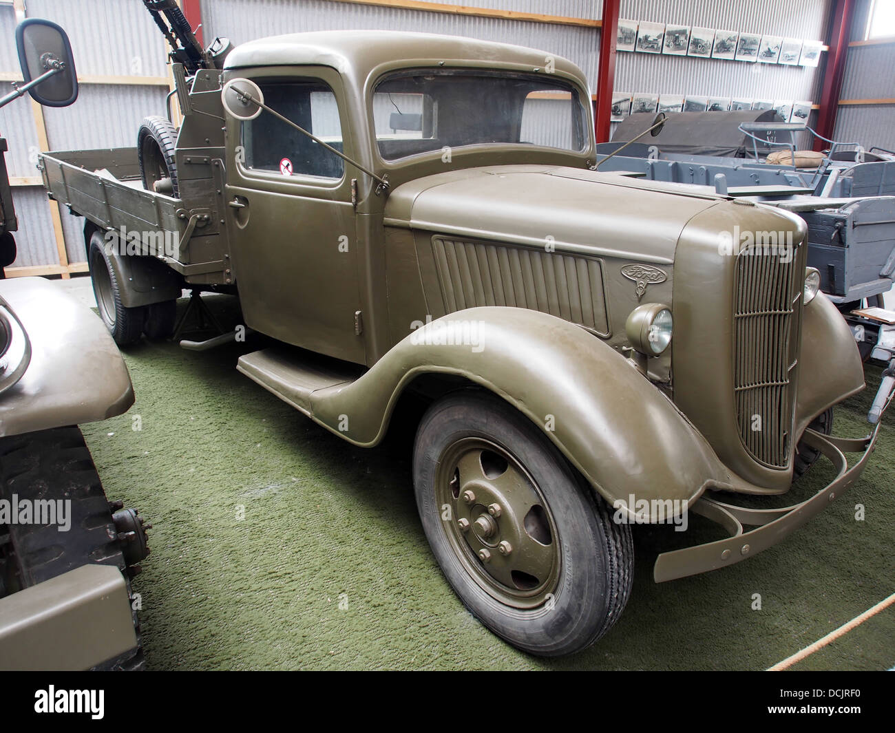 1939 Ford V8, photographed at the Aalborg Forsvars- og Garnisonsmuseum - Stock Image