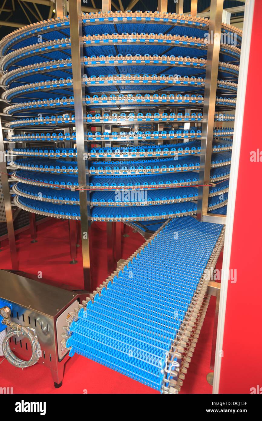 conveyor belt detail - Stock Image