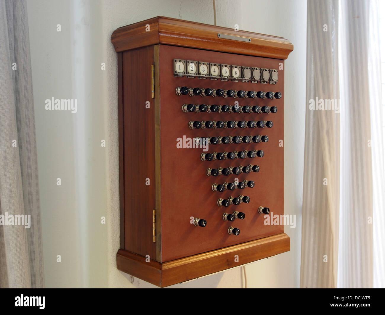 Some kind of switchbox, photographed at the Aalborg Forsvars- og Garnisonsmuseum - Stock Image